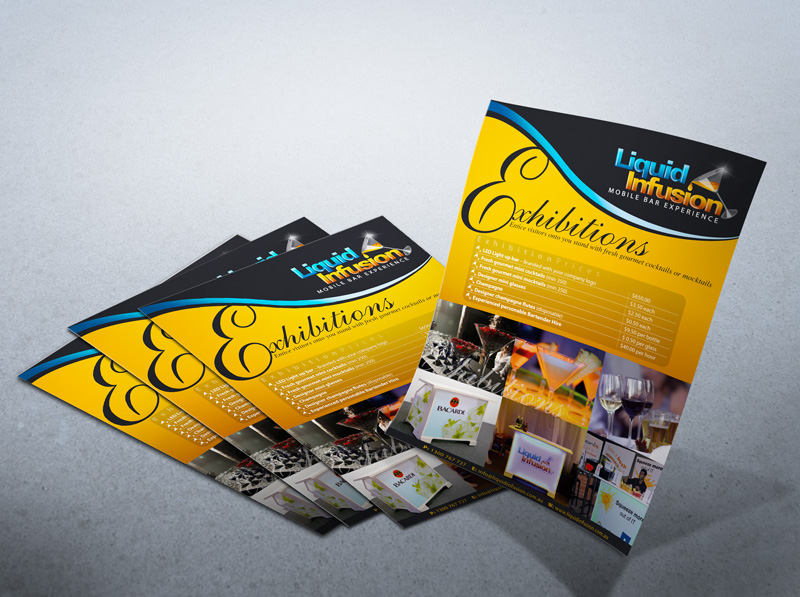 Flyer design for Exhibitions