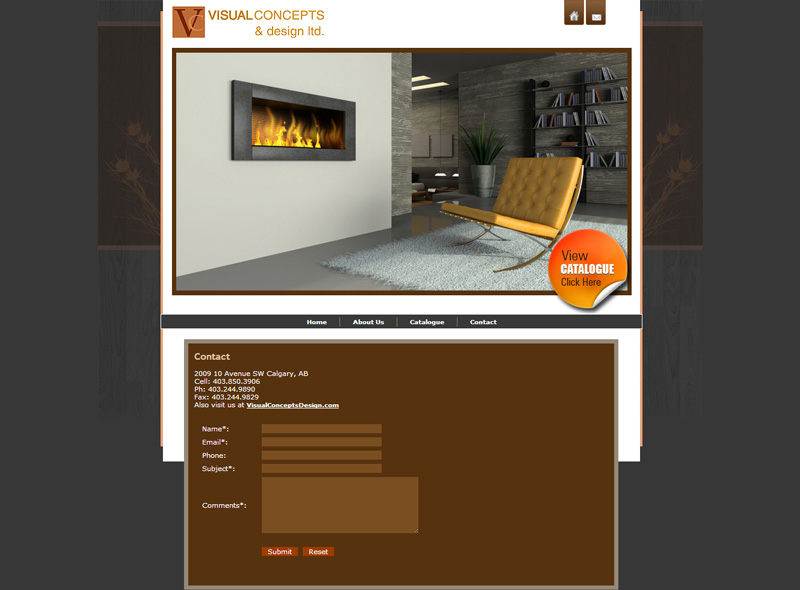 E commerce website design for calgary furniture company for Website to sell furniture