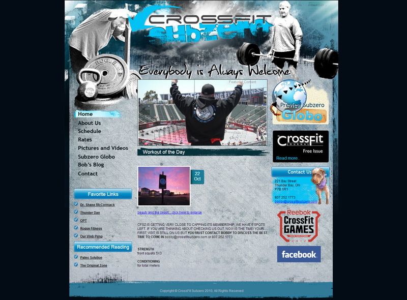 CMS Web Development Gym | Homepage