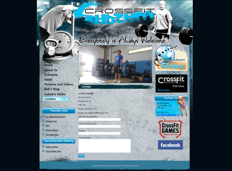 CMS Web Development Gym | Contact