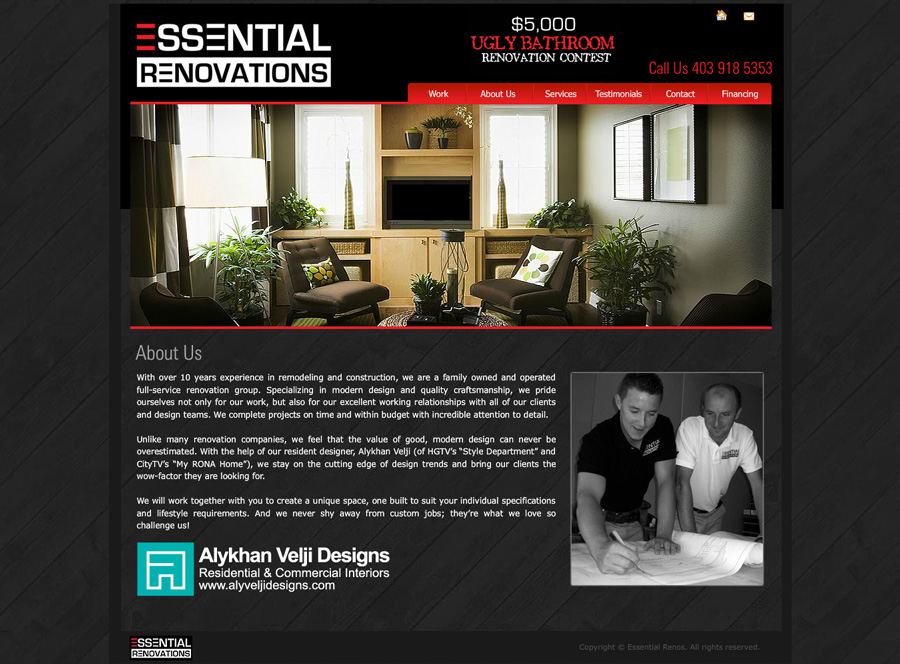 Renovations Website Design | About Us