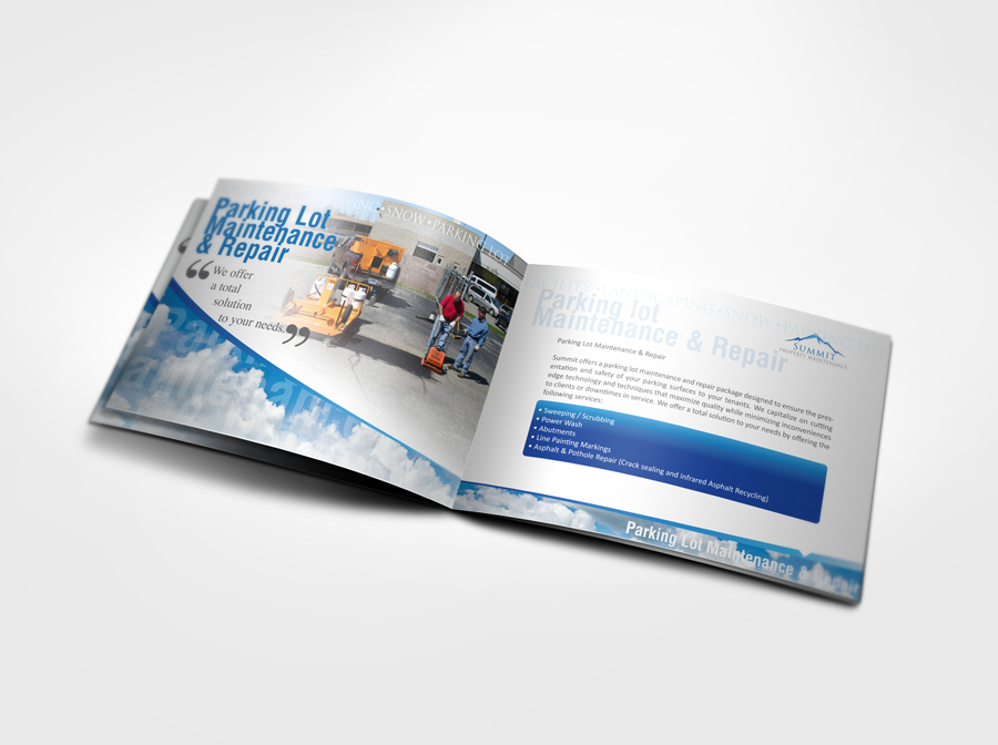 Brochure Design Calgary Company - Parking Lot Page