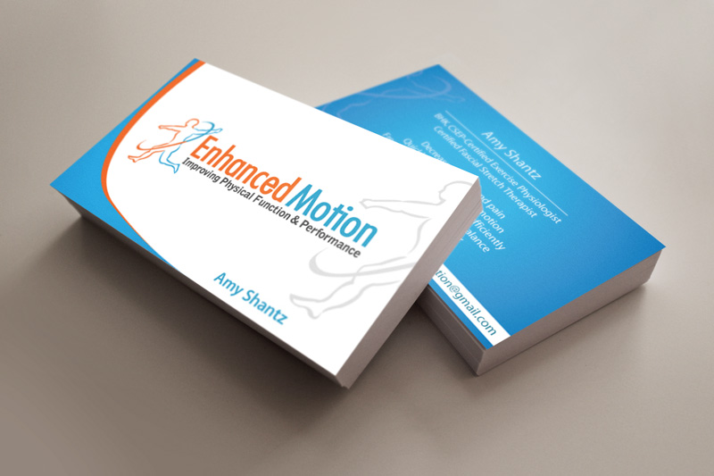 Medical Business Card Design - Final Logo Placed on Custom Business Card