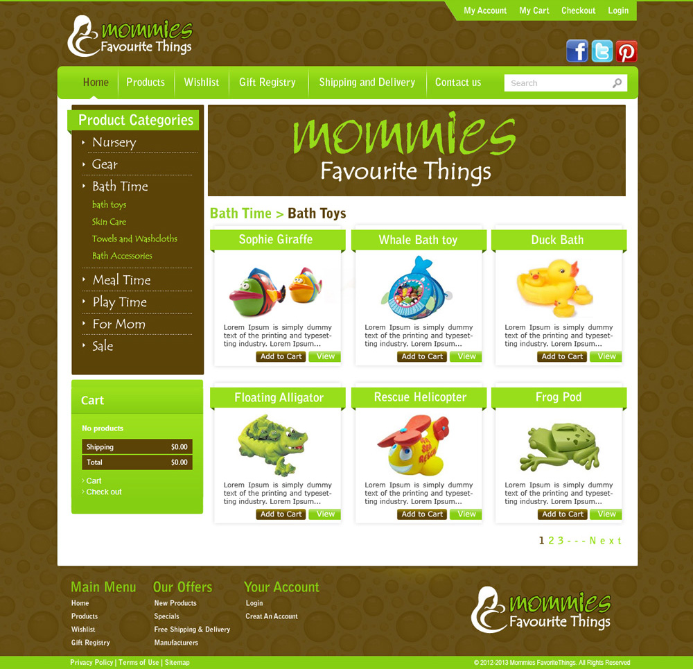 Baby Store E-commerce Website Development | Category Page