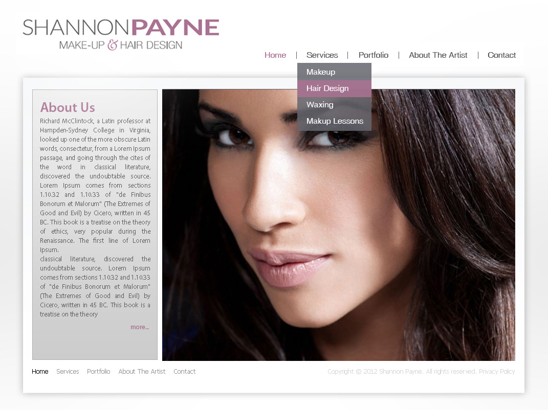Makeup and Stylist Website Design - Digital Lion
