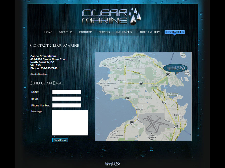 Marine Equipment Website Design | Contact Page