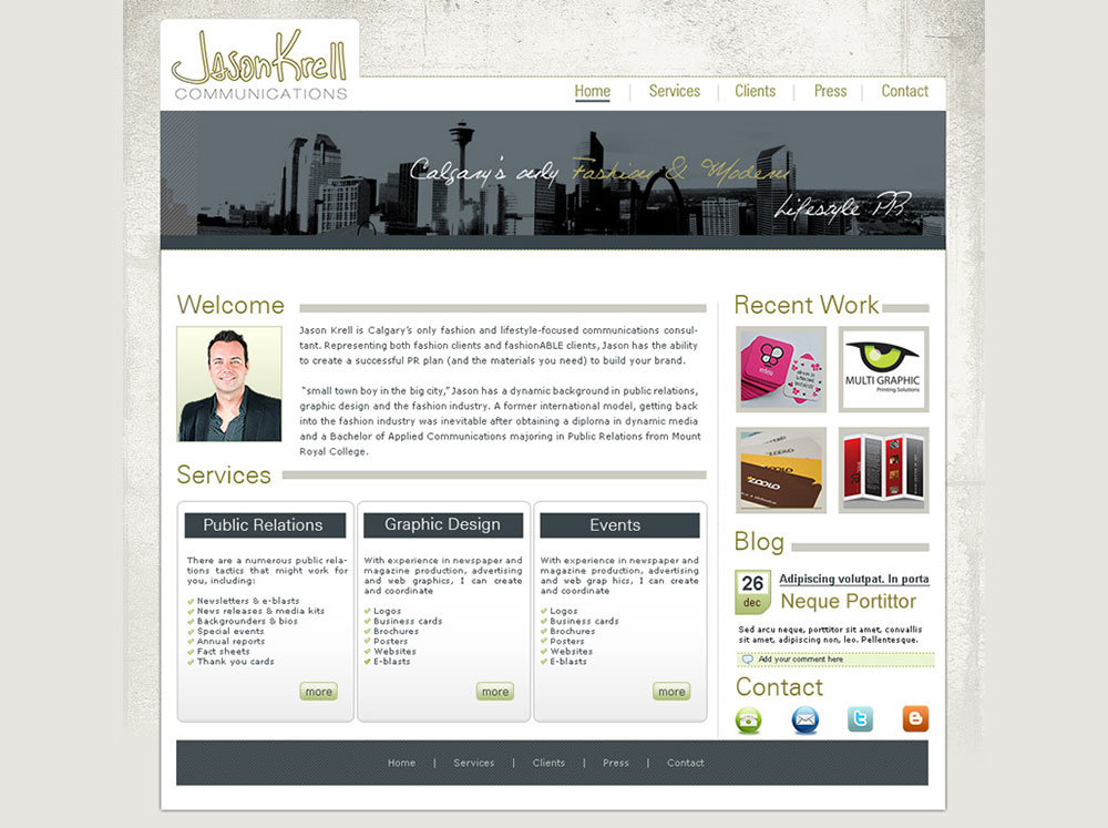 Website Design for PR and Marketing Company
