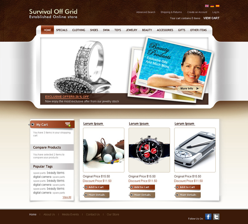 Online shopping website design digital lion for Design online shop