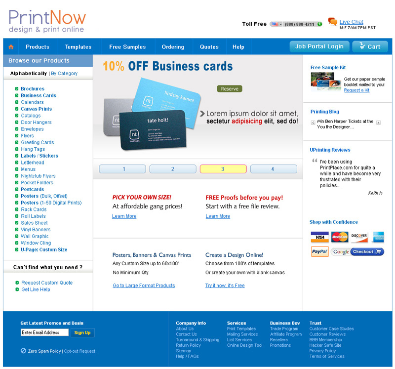 E-commerce Website Development Printing Company | Homepage