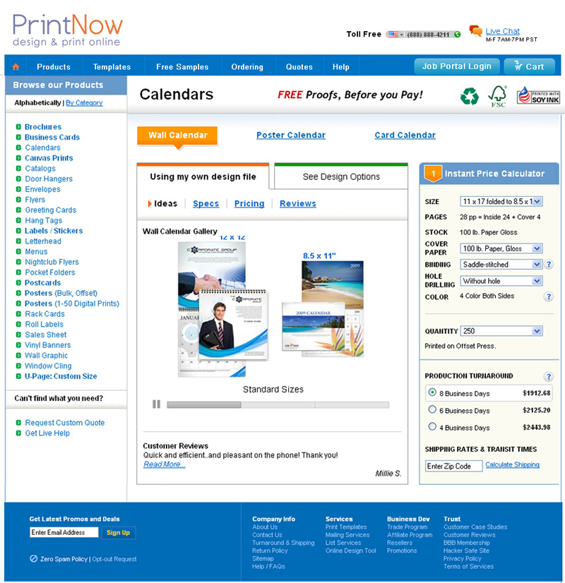 E-commerce Website Development Printing Company   Order Page
