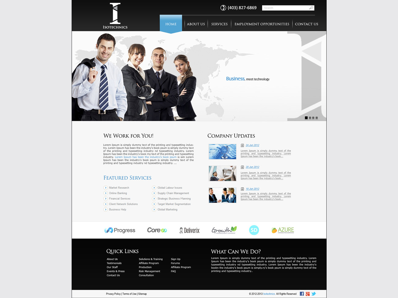 Tech Company Website Development | Homepage