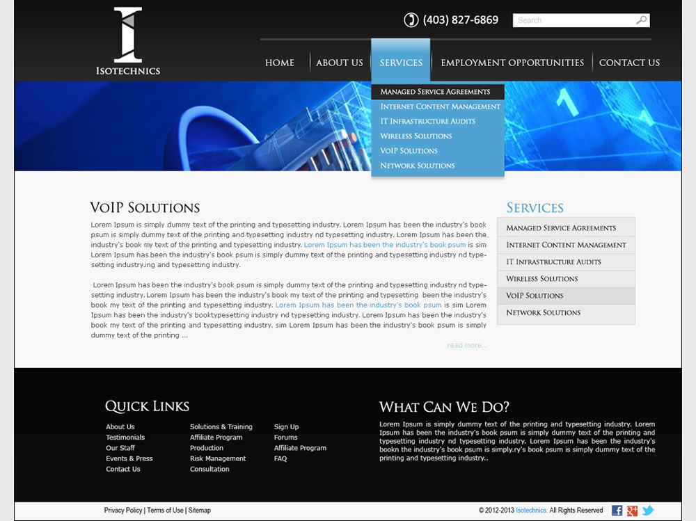 Tech Company Website Development | Services