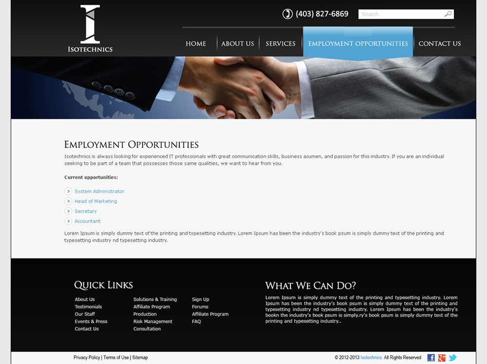 Tech Company Website Development | Employment