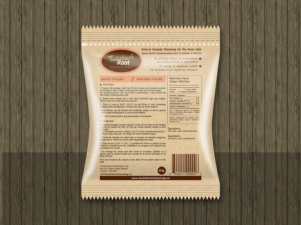 Package Label Design 3
