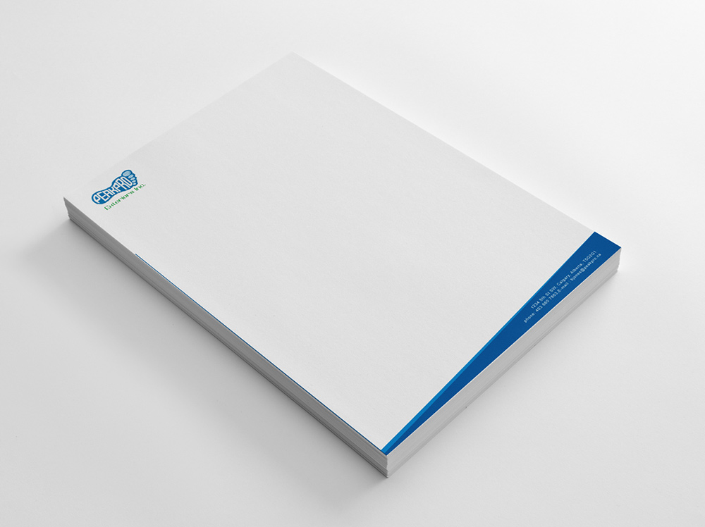 Letterhead Design Incorporating Custom Logo