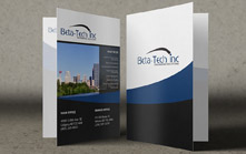 Presentation Folder For an Engineered Solutions Company