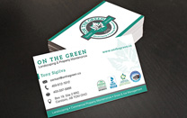 Business Card Design For a Landscaping Company