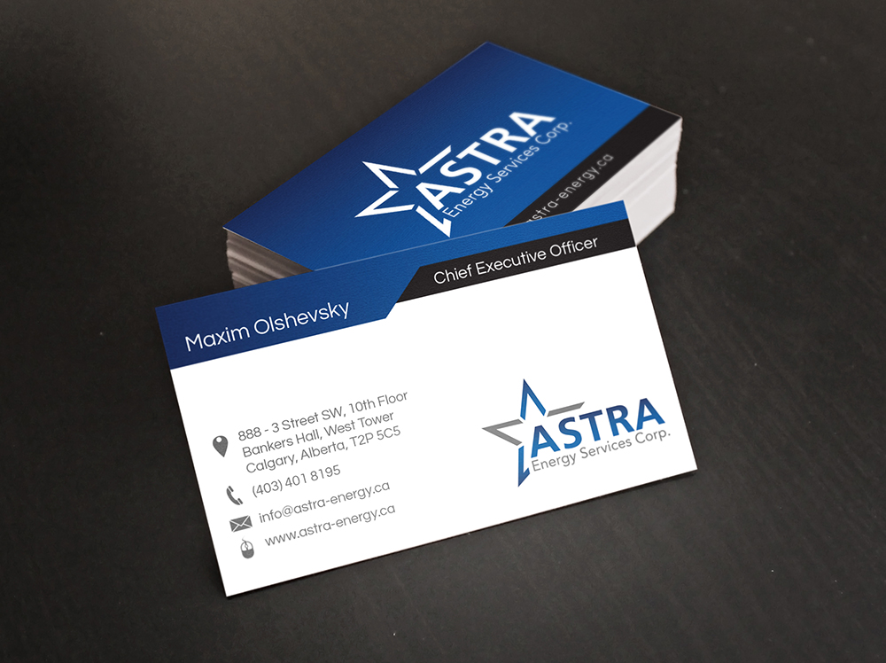 Business Card Design for a Local Energy Company - Digital Lion