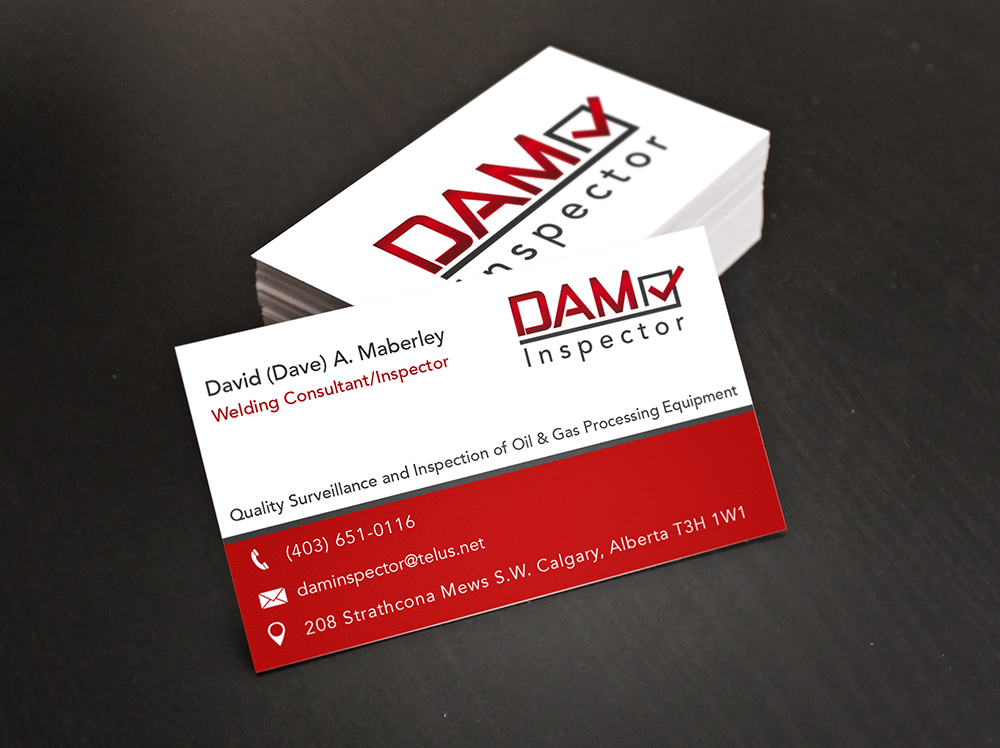 Business Card Design for a Calgary Oil & Gas Inspection Company ...
