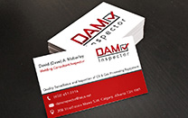 Business Card Design for a Calgary Oil & Gas Inspection Company