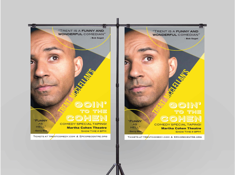 Poster and Flyer Design for Comedy Tour Alternate Concept 2