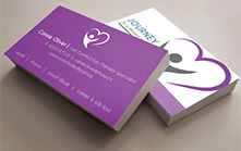Business Card Design For a Grief Counselor