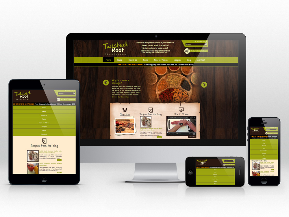 Responsive E-commerce Web Development for Food Product | Homepage