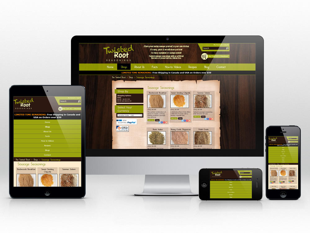 Responsive E-commerce Web Development for Food Product | Product Gallery