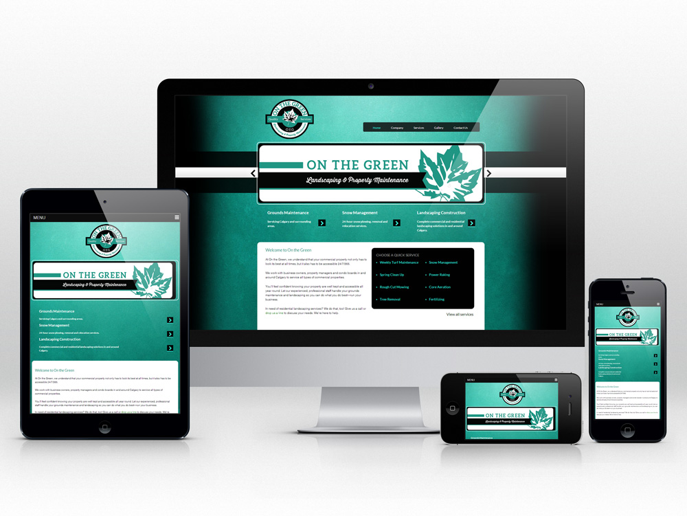 Responsive Web Design for Landscaping Company | Homepage