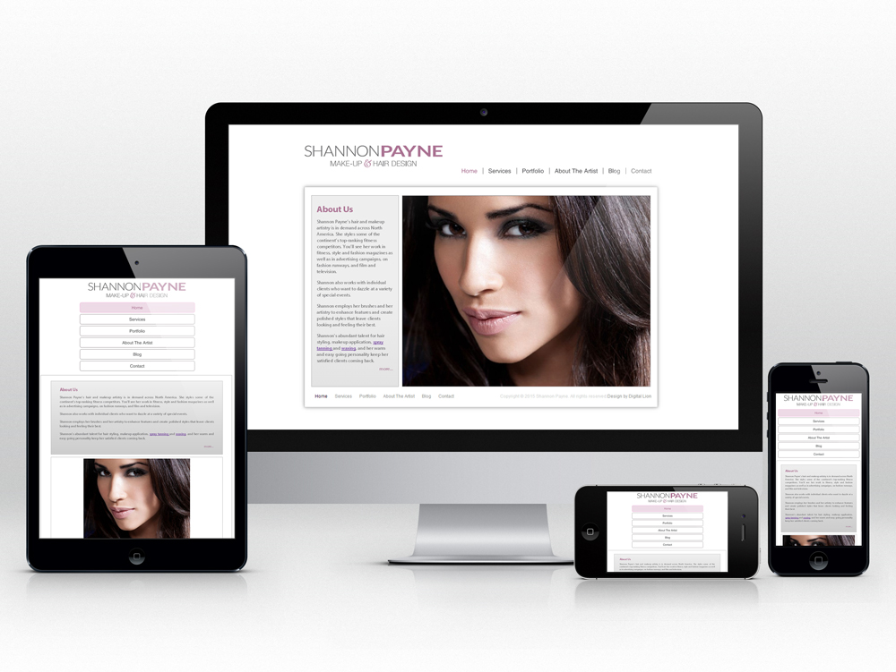 Makeup and Stylist Responsive Web Design | Homepage