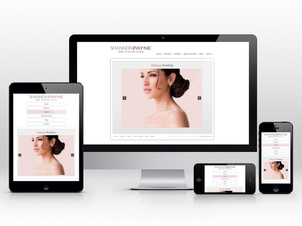 Makeup and Stylist Responsive Web Design | Gallery Page Design