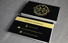 Business Card Design for Men's Shaving and Hairstyle Line