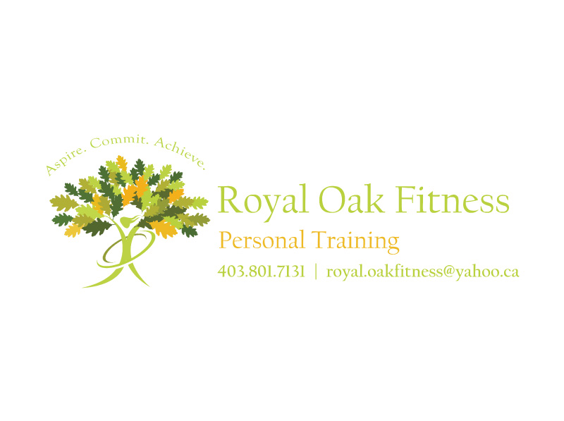 Personal Fitness Training Logo Design Final Concept for Vehicle