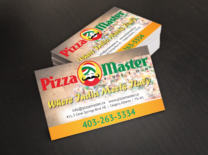 Business Card Design for Pizza Restaurant Second Chosen Concept