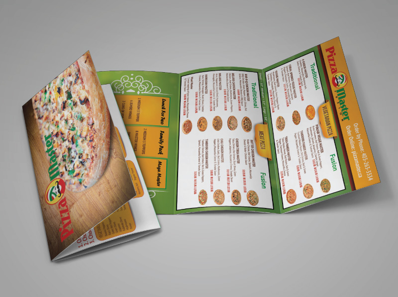 Mail-out Pizza Menu Design Inside
