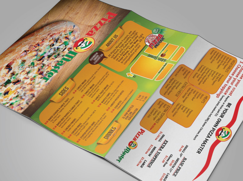 Mail-out Pizza Menu Design Outside