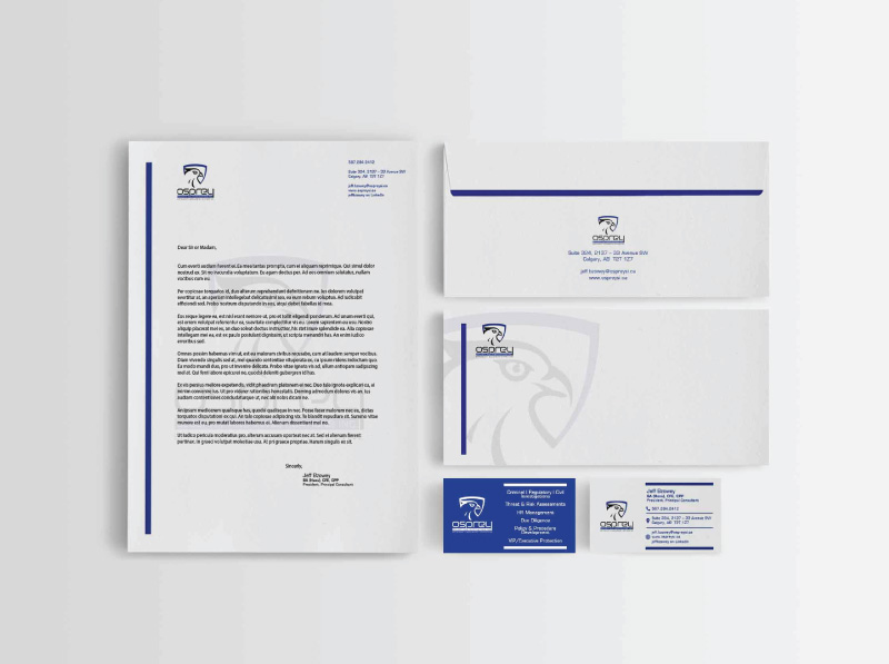 Security and Investigations Professional Stationery Design | Alternate Concept 1
