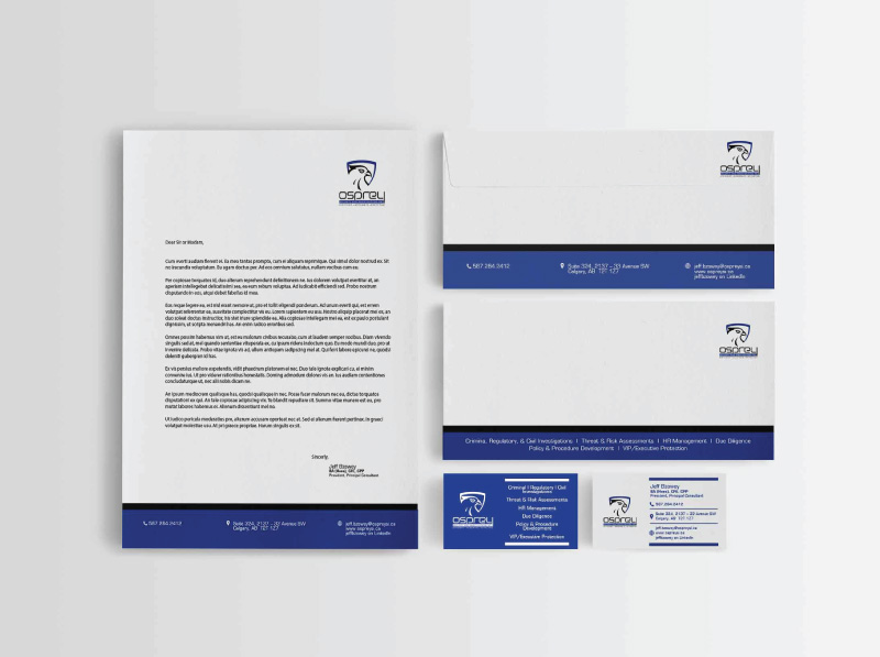 Security and Investigations Professional Stationery Design | Alternate Concept 2