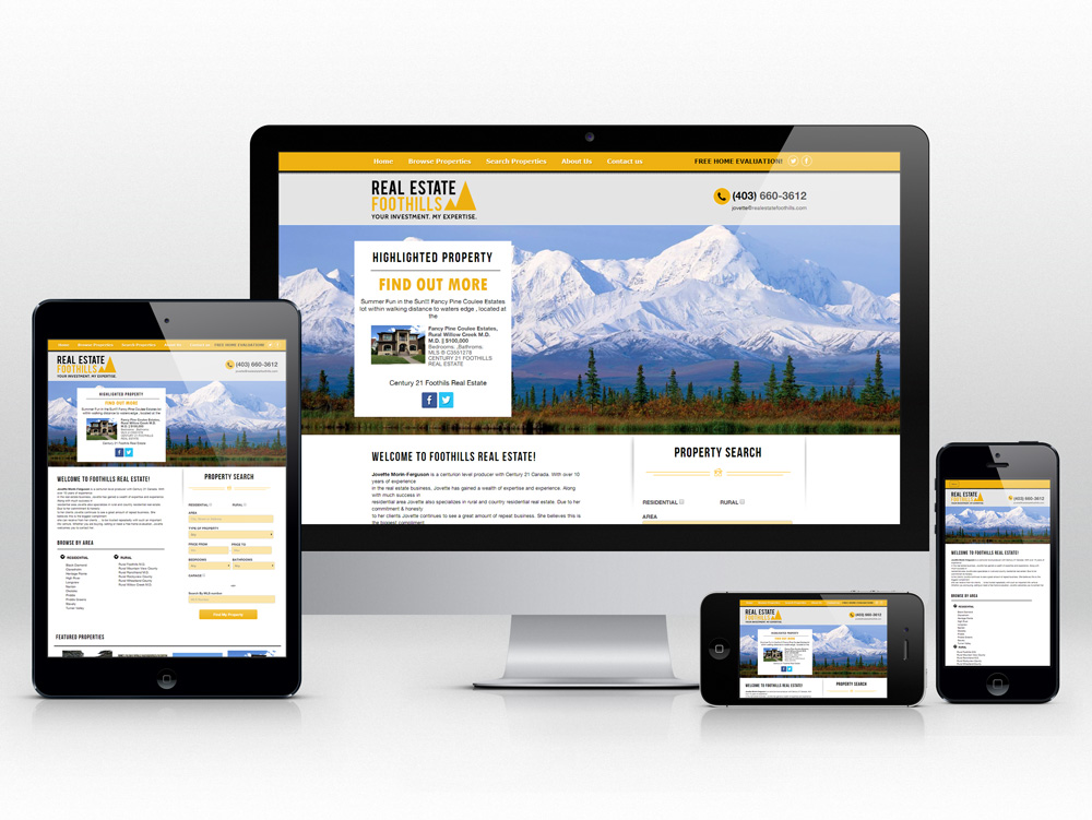 Responsive Web Design for Realtor | Homepage