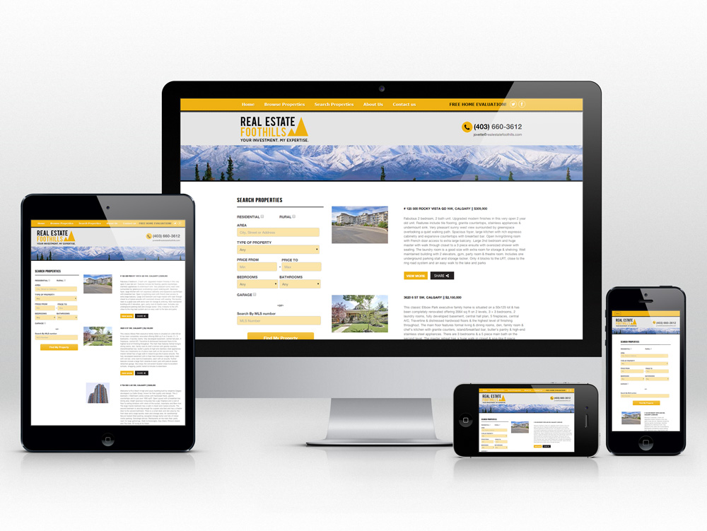 Responsive Web Design for Realtor | MLS Search Development