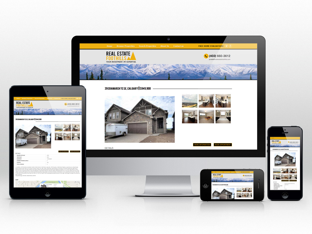 Responsive Web Design for Realtor | View MLS Property