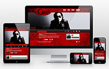 Responsive Website Design for a Rock Band