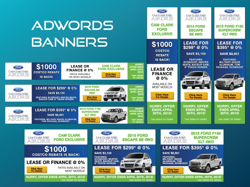 Online AdWords Marketing Banner Design - Ford Car Dealership