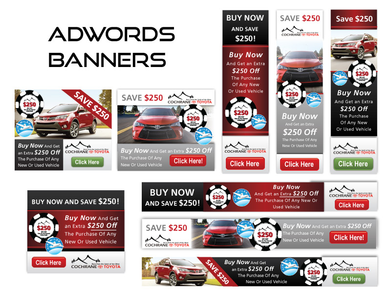 Online AdWords Marketing Banner Design - Toyota Car Dealership