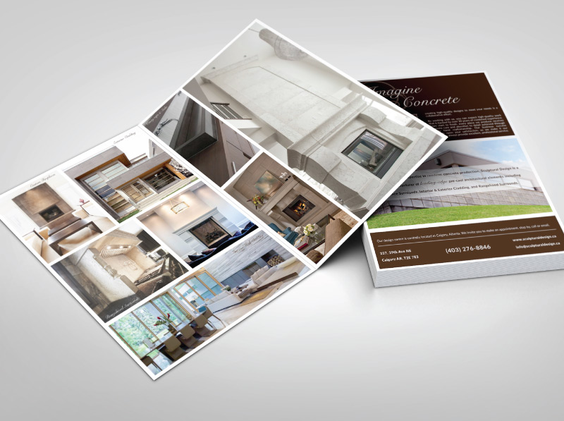 Custom Professional Installations Brochure Design - Inside and Back Cover
